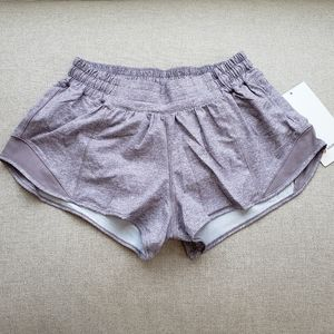 "Lululemon Hotty Hot LR 2.5"" shorts violet size 6"